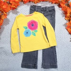 2/$28 Toddler floral yellow/gray Fall bundle